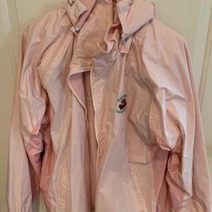 Pink Monterey California rain jacket